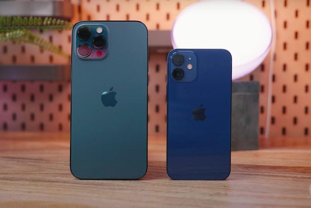 Apple iPhone 12 Pro Max Vert iPhone 12 mini Bleu Apple publie iOS 14.2.1 pour corriger certains bugs retrouvés sur les iPhone 12
