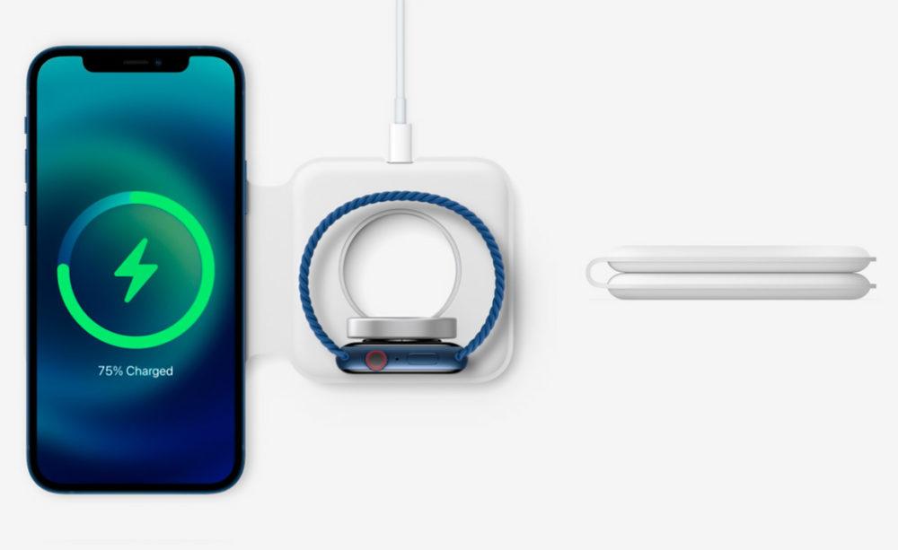 Chargeur MagSafe Duo Apple vend le chargeur MagSafe Duo au prix de 149 euros en France