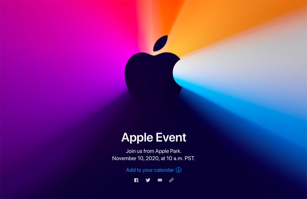 Keynote Apple 10 Novembre 2020 Apple fait lannonce dune keynote pour le 10 novembre à venir