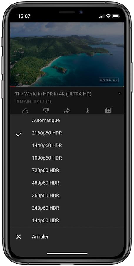 YouTube Video HDR iPhone 12 YouTube : le support du HDR sur les iPhone 12 est ajouté avec une nouvelle mise à jour