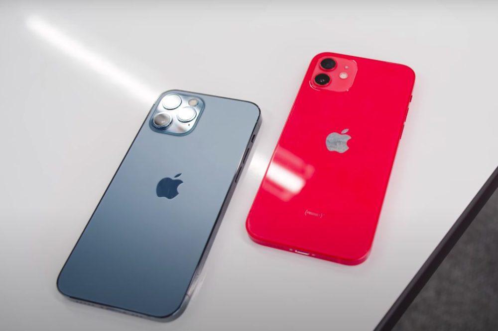 iPhone 12 Pro Bleu iPhone 12 Rouge Dos iPhone 12 : un chargeur de 20 W minimum est requis pour jouir de la recharge rapide