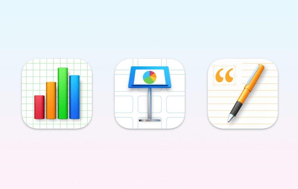iWork Nouvelles Icones macOS Big Sur Suite iWork (Pages, Numbers, Keynote) : une mise à jour pour changer les icônes sur macOS Big Sur