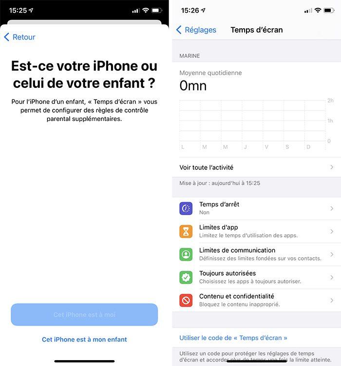 iphone activer temps ecran pour soi Comment activer et configurer le contrôle parental Temps décran inclus dans votre iPhone