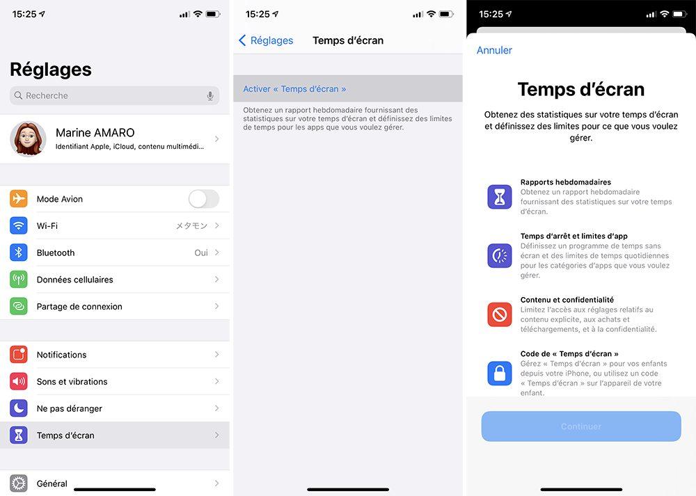 iphone activer temps ecran Comment activer et configurer le contrôle parental Temps décran inclus dans votre iPhone