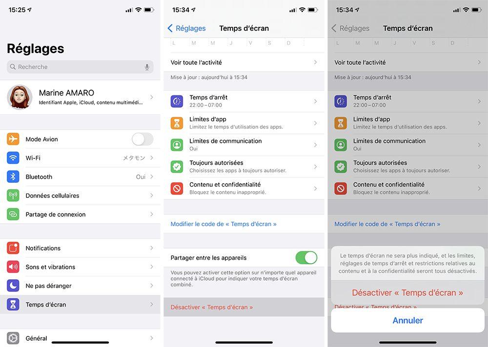 iphone desactiver temps ecran Comment activer et configurer le contrôle parental Temps décran inclus dans votre iPhone
