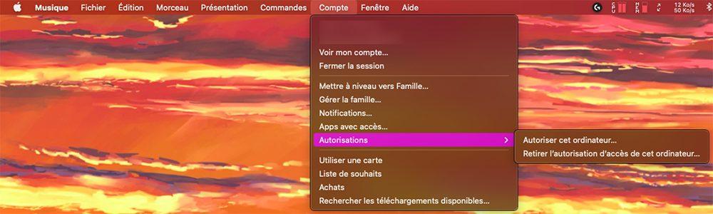 mac musique autorisation Comment faire si vous avez déjà 5 ordinateurs autorisés sur iTunes / Musique ?