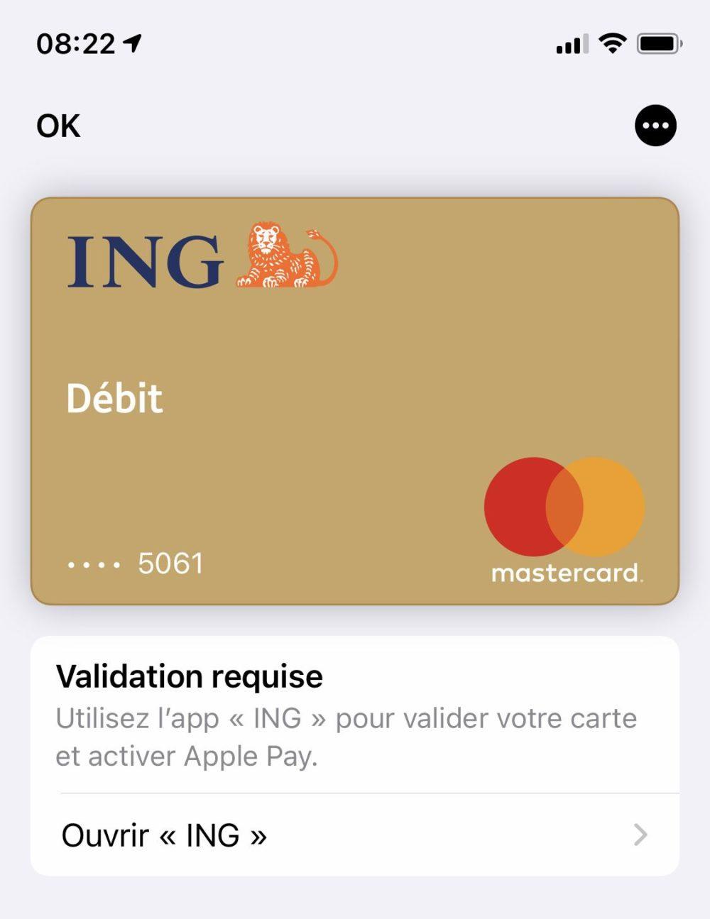 Apple Pay ING Apple Pay est enfin disponible pour les clients de la banque ING