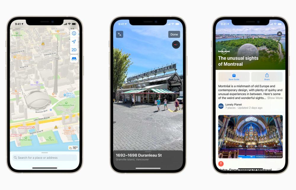 Apple Plans Nouvelles Cartes Canada Les cartes améliorées dans Apple Plans arrivent au Canada