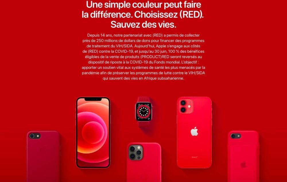 Journee contre sida Apple RED Journée mondiale de lutte contre le sida : Apple vante les produits RED