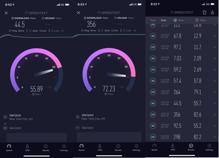 PCMag Test iPhone 12 5G Verizon iPhone 12 : aux États Unis, la 4G est plus rapide que la 5G chez Verizon