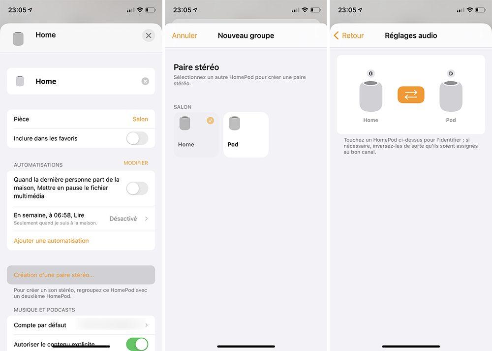 iphone homepod creation paire stereo Comment configurer et utiliser 2 HomePod en stéréo