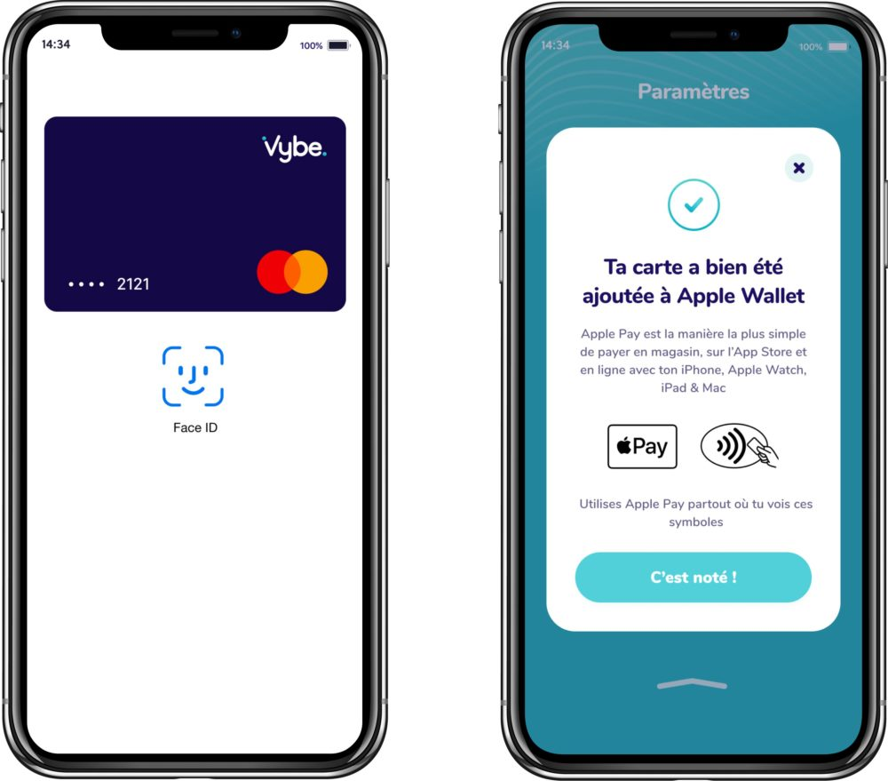 Neobanque Vybe Apple Pay La néobanque Vybe supporte à présent Apple Pay