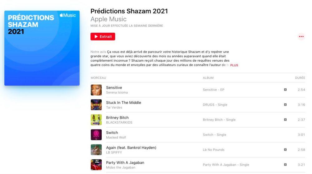 Predictions Shazam 2021 Apple prédit les artistes qui émergeront en 2021 grâce à Shazam