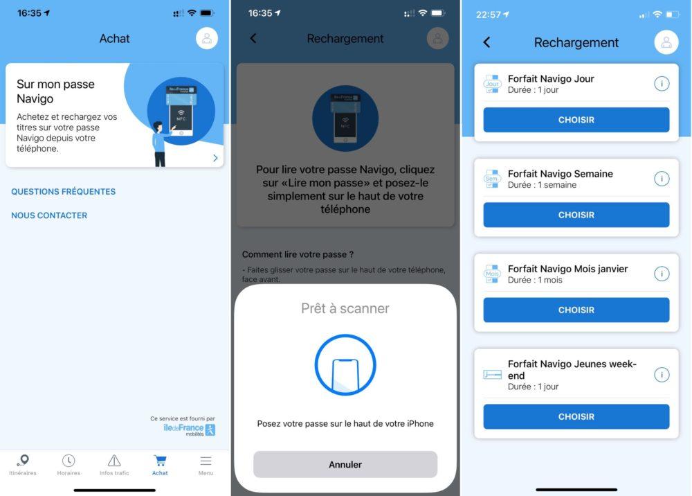 Recharger Pass Navigo iPhone Vous pouvez désormais recharger votre passe Navigo avec votre iPhone
