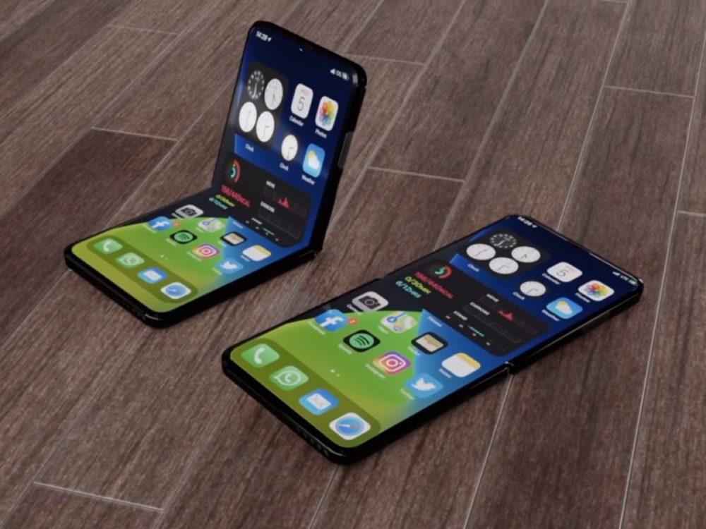 iPhone 13 Pliable concept Apple serait en train de préparer liPhone 13 avec Touch ID sous lécran et un iPhone pliable