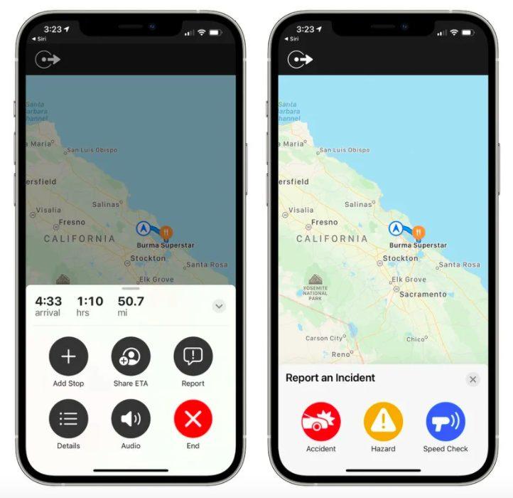 Apple Plans iOS 14.5 Signaler Accident Radar et Danger iOS 14.5 permet, comme lapplication Waze, de signaler les accidents, radars et dangers