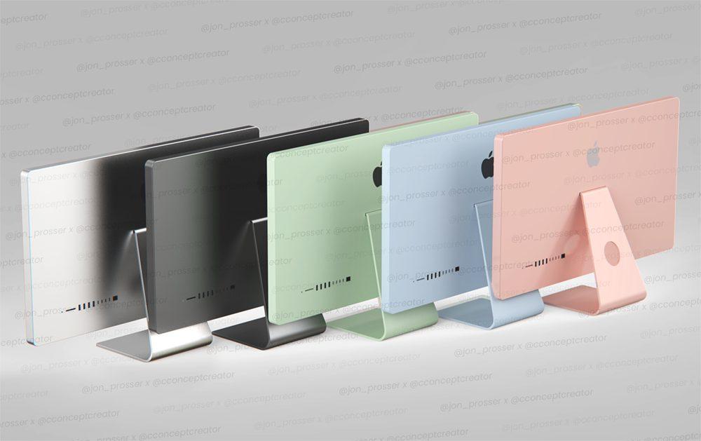 Jon Prosser iMac 2021 Coloris iMac 2021 : lordinateur aurait les mêmes coloris que liPad Air 4