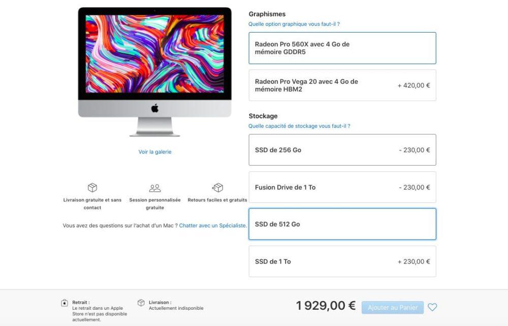 iMac 21 5 pouces avec ecran Retina 4K. Certains iMac 21,5 pouces sont en ce moment indisponibles à lachat chez Apple