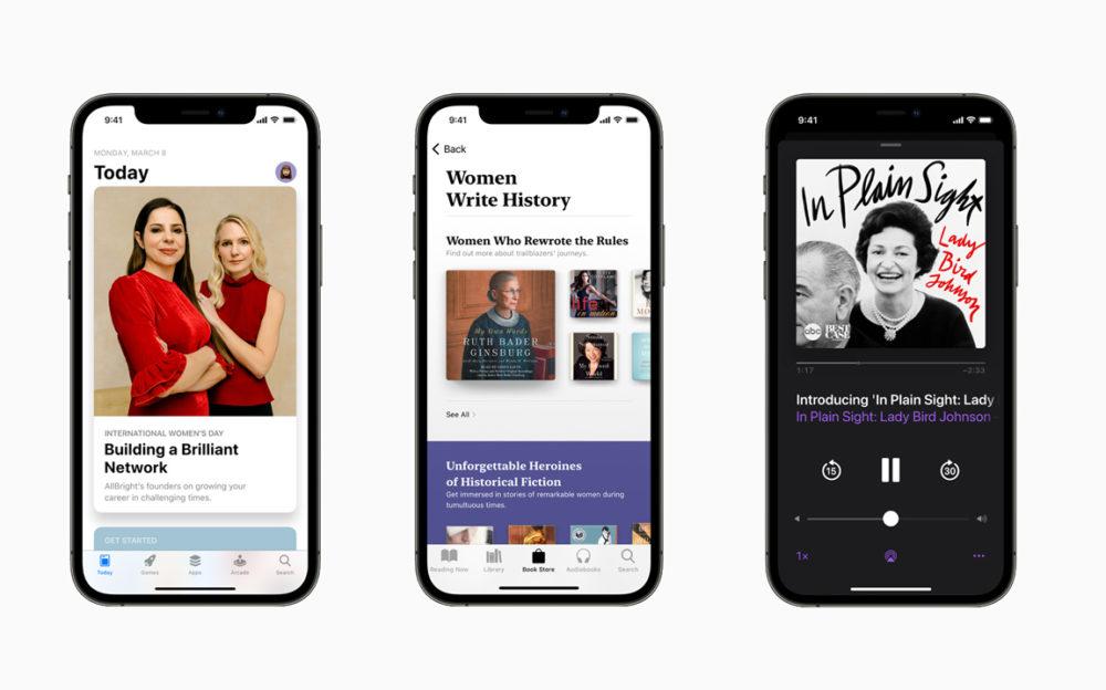 Apple Mois Histoire des Femmes 2021 Avec ses services, Apple va célèbrer le mois de lhistoire des femmes et la journée internationale des droits des femmes