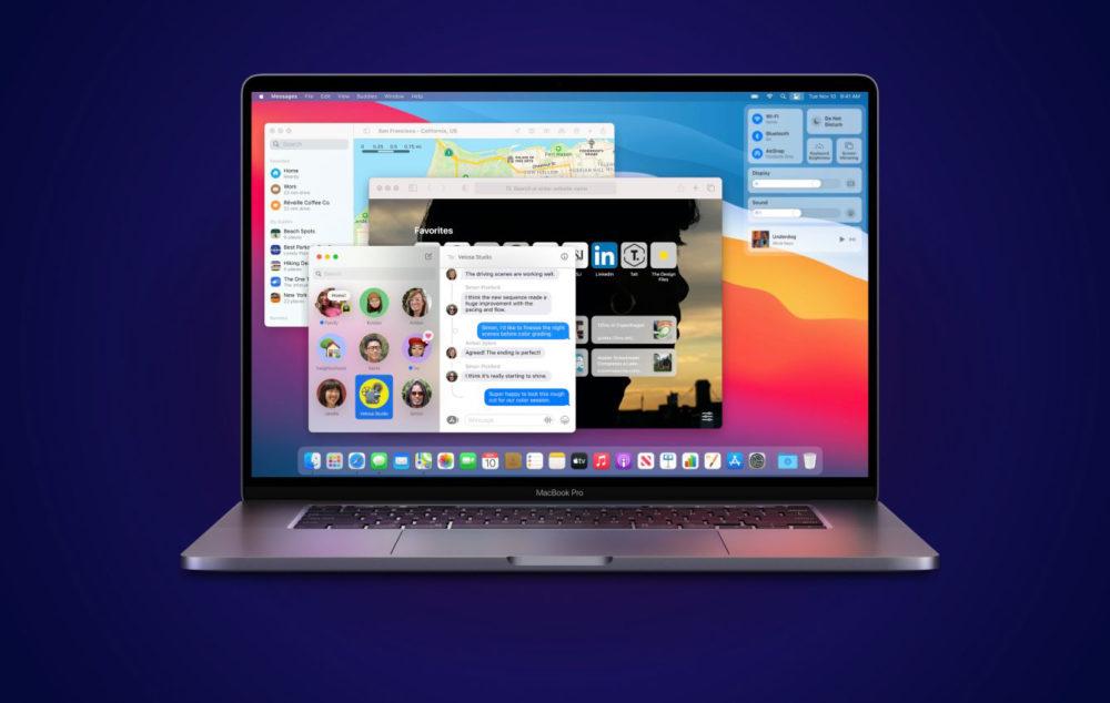 MacBook Pro macOS Big Sur Apple propose au téléchargement macOS 11.6 sur Mac