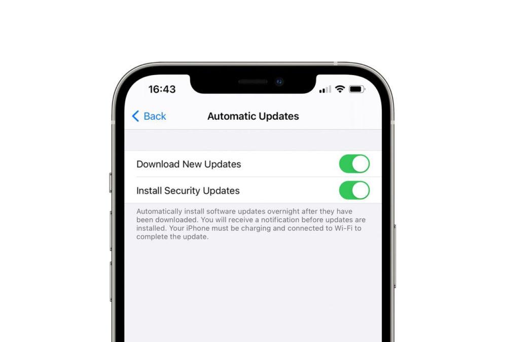 iOS 14.5 Reglage iOS Mise a Jour de Securite Les mises à jour de sécurité seraient prochainement indépendantes des mises à jour iOS