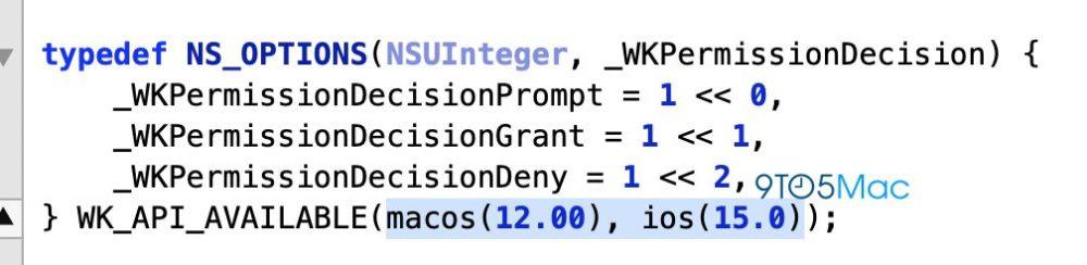 iOS 15 WebKit Des références diOS 15 et de macOS 12 retrouvées dans le code WebKit