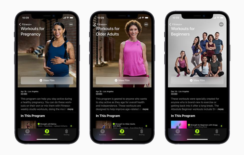 Appl Fitness Plus Exercises Pour Femmes Enceintes Adultes Et Debutants Apple Fitness+ : exercices pour femmes enceintes, personnes âgées et débutants sont disponibles