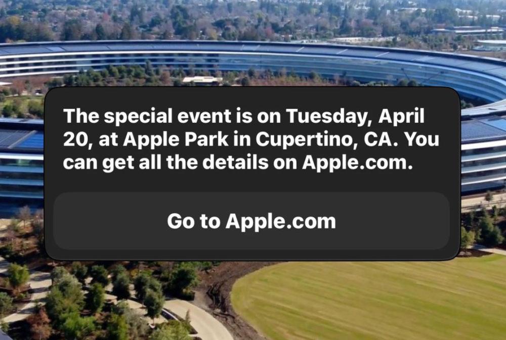 Apple Event March 20 Siri Siri indique que la prochaine keynote dApple aura lieu le 20 avril à venir