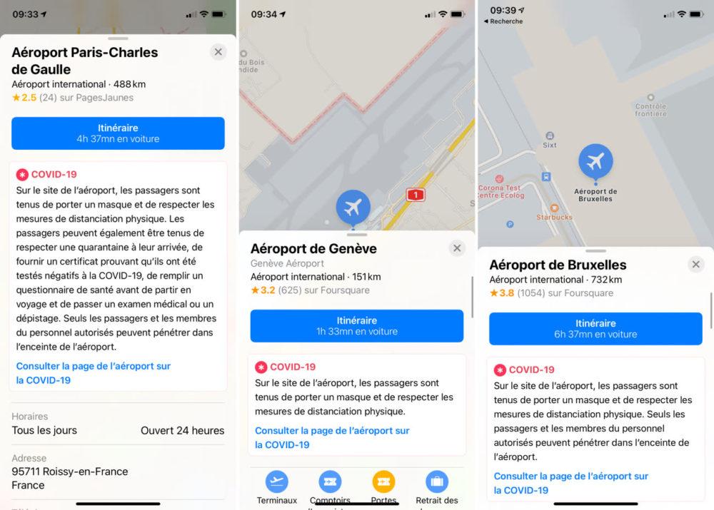 Apple Plans Coronavirus Aeroports COVID 19 : Apple Plans ajoute des consignes dans plus de 300 aéroports