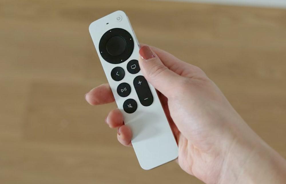Apple TV 2021 Telecommande Apple dévoile la 6e génération dApple TV (4K 2021) avec la puce A12 et une nouvelle télécommande