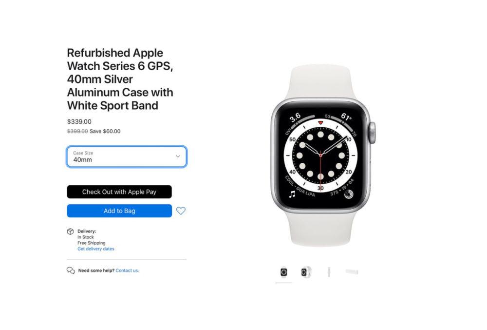 Apple Watch Series 6 Reconditionne Les Apple Watch Series 6 et Apple Watch SE reconditionnées disponibles à la vente (aux États Unis)
