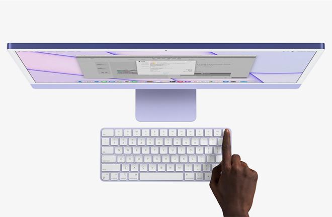 Apple iMac M1 Apple Silicon Touch ID Apple dévoile son iMac M1 (Apple Silicon) : nouveau design, plusieurs coloris et plus encore
