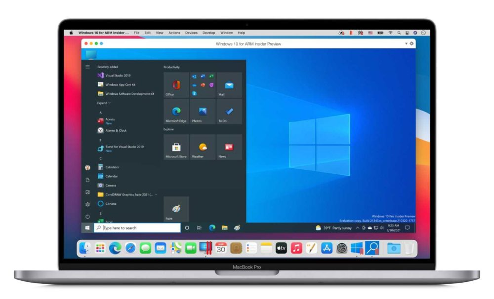 Parallels Dekstop Mac M1 MacBook Pro Parallels Desktop est mis à jour : support des Mac M1 (Apple Silicon) ajouté