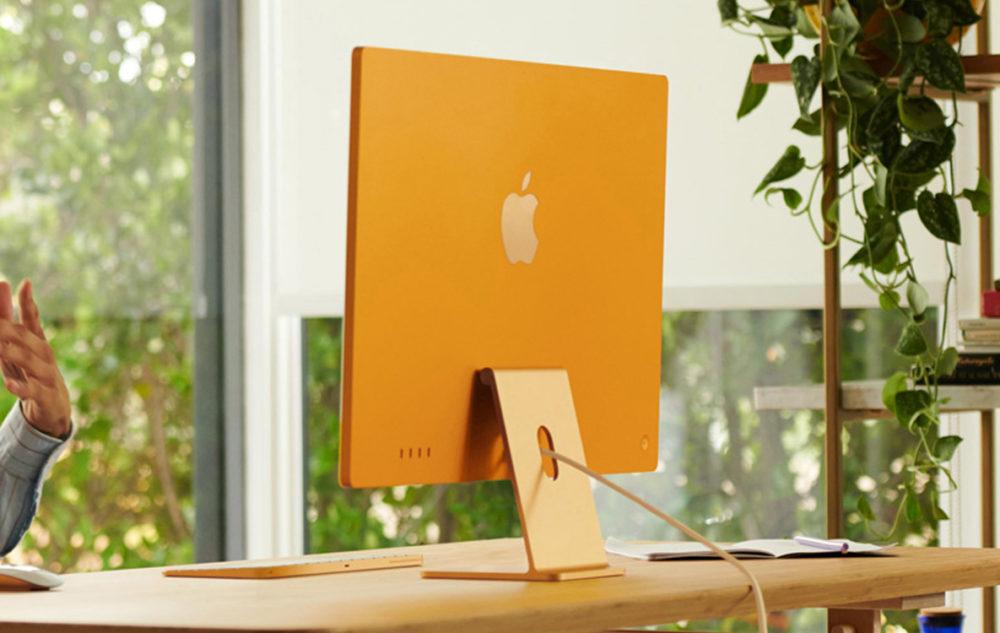 iMac M1 2021 Dos LiMac M1 (2021) est disponible à lachat sur le site dApple