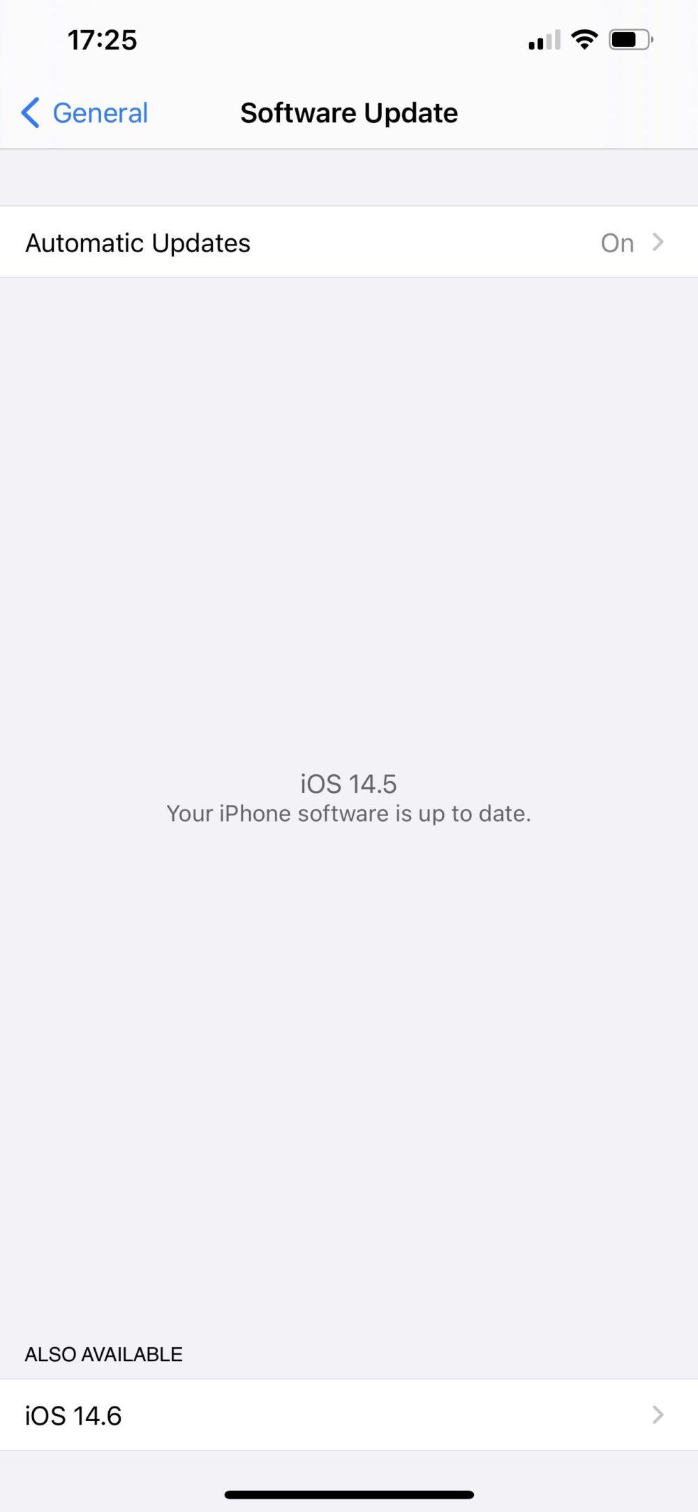 iOS 14.5 Release Candidate iOS 14.6 et iPadOS 14.6 : la bêta 1 publique est disponible