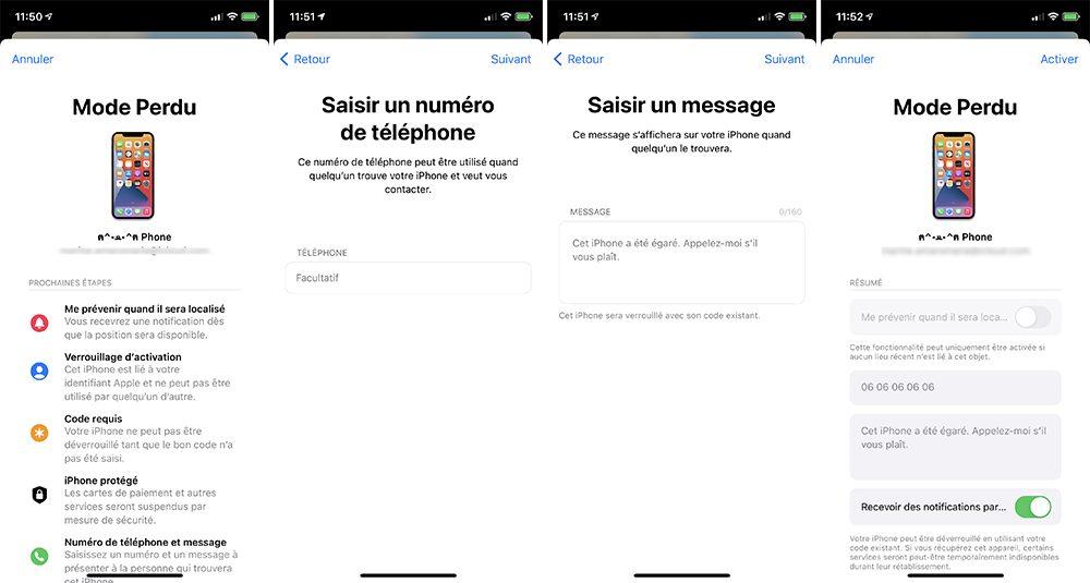 iphone localiser activer mode perdu Que faire lorsque mon iPhone est perdu ou volé ?