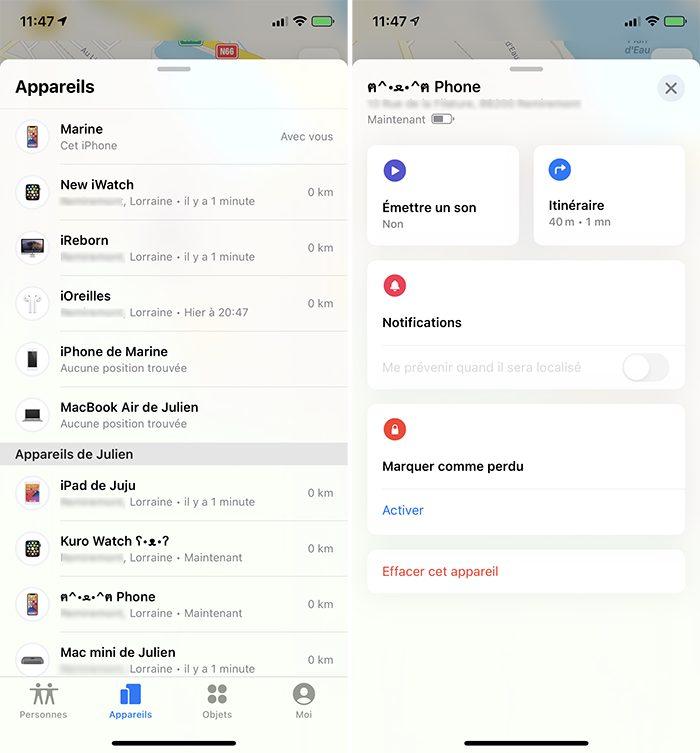 iphone localiser appareils Que faire lorsque mon iPhone est perdu ou volé ?