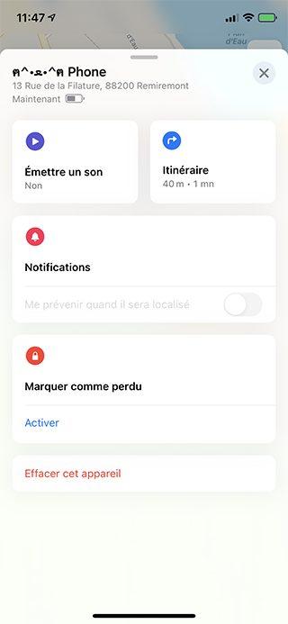 iphone options localiser Que faire lorsque mon iPhone est perdu ou volé ?
