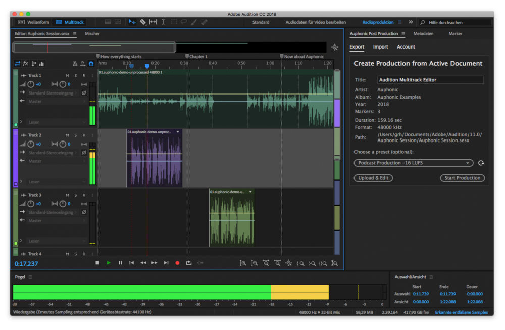 Adobe Audition Mac Adobe Audition est mis à jour : le support des Mac M1 (Apple Silicon) est ajouté