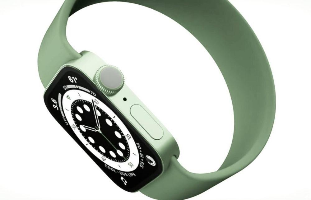Apple Watch Series 7 Concept LApple Watch Series 7 aurait des bords plats et un nouveau coloris vert
