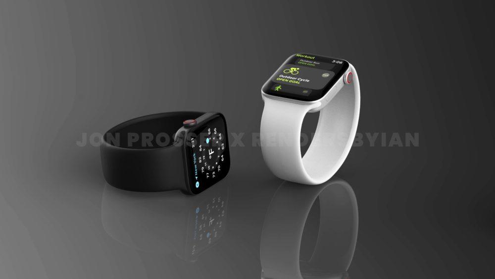 Apple Watch Series 7 Noir Argent Apple Watch Series 7 : le design est dévoilé avec plus de rendus