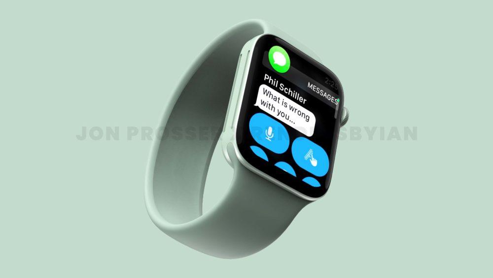 Apple Watch Series 7 Vert Apple Watch Series 7 : le design est dévoilé avec plus de rendus