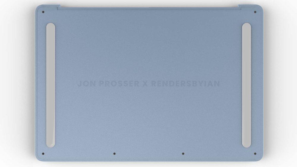 Prochain MacBook Air Arriere MacBook Air en plusieurs coloris : des rendus dévoilent des bordures et des touches du clavier blanches...