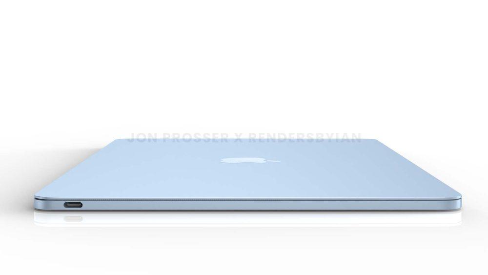 Prochain MacBook Air Cote MacBook Air en plusieurs coloris : des rendus dévoilent des bordures et des touches du clavier blanches...