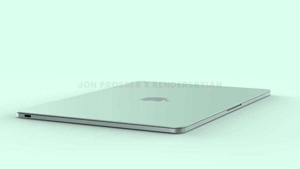 Prochain MacBook Air Vert MacBook Air en plusieurs coloris : des rendus dévoilent des bordures et des touches du clavier blanches...