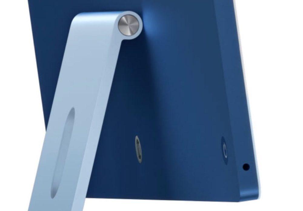 iMac M1 Prise Jack iMac M1 : la prise jack est placée sur le côté en raison de la finesse