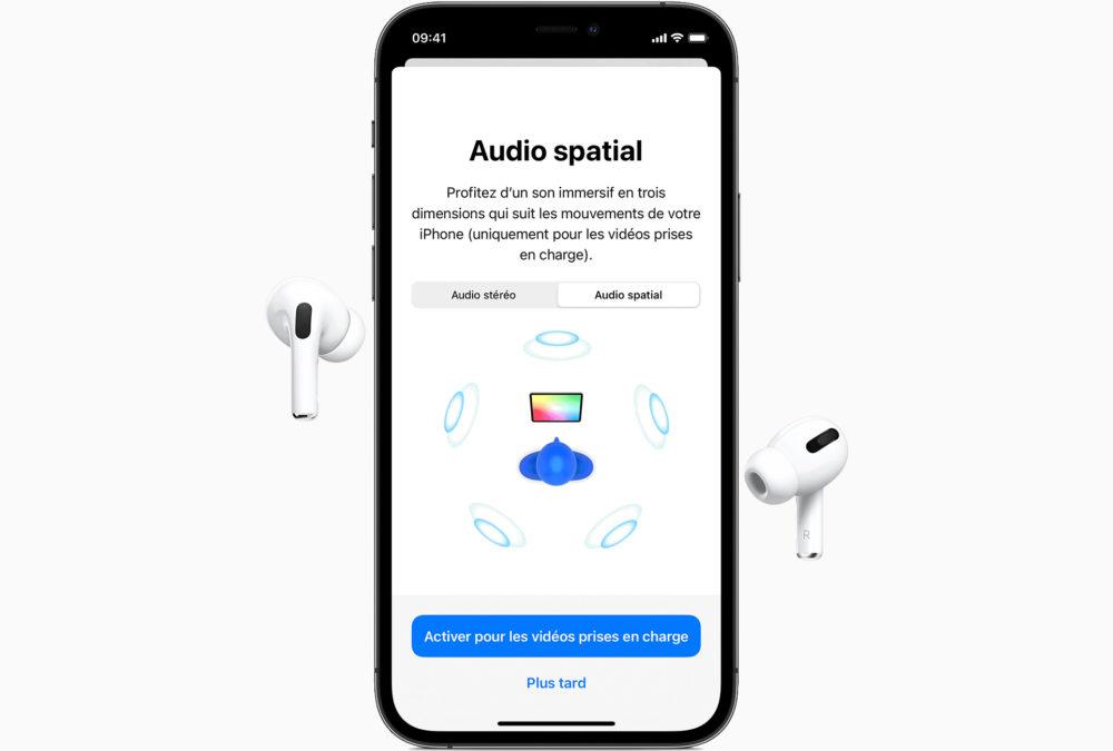 iPhone 11 Pro Airpods Pro Audio Spatial Apple Music annonce Lossless Audio (audio sans perte) et lAudio Spatial sans coûts additionnels