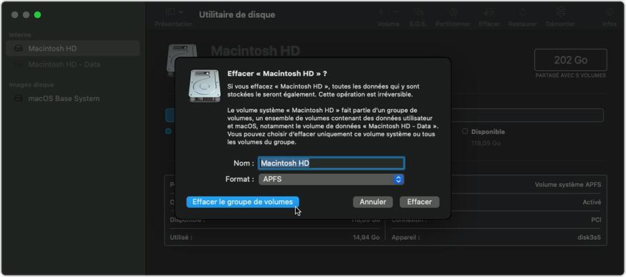 utilitaire disque effacer mac Que faire avant de vendre son Mac