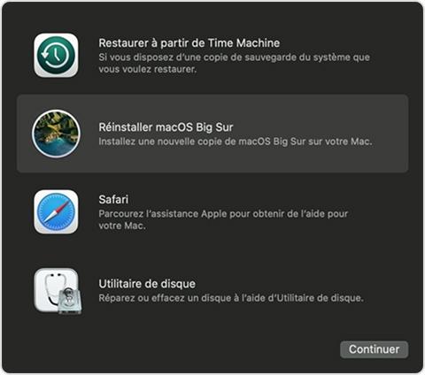utilitaire macos reinstaller macos Que faire avant de vendre son Mac