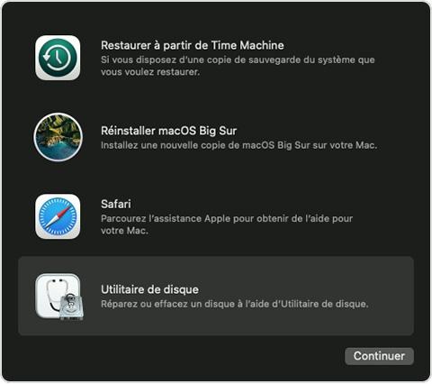 utilitaire macos utilitaire disque Que faire avant de vendre son Mac